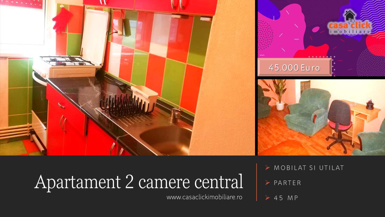 Apartament 2 camere central, mobilat si utilat