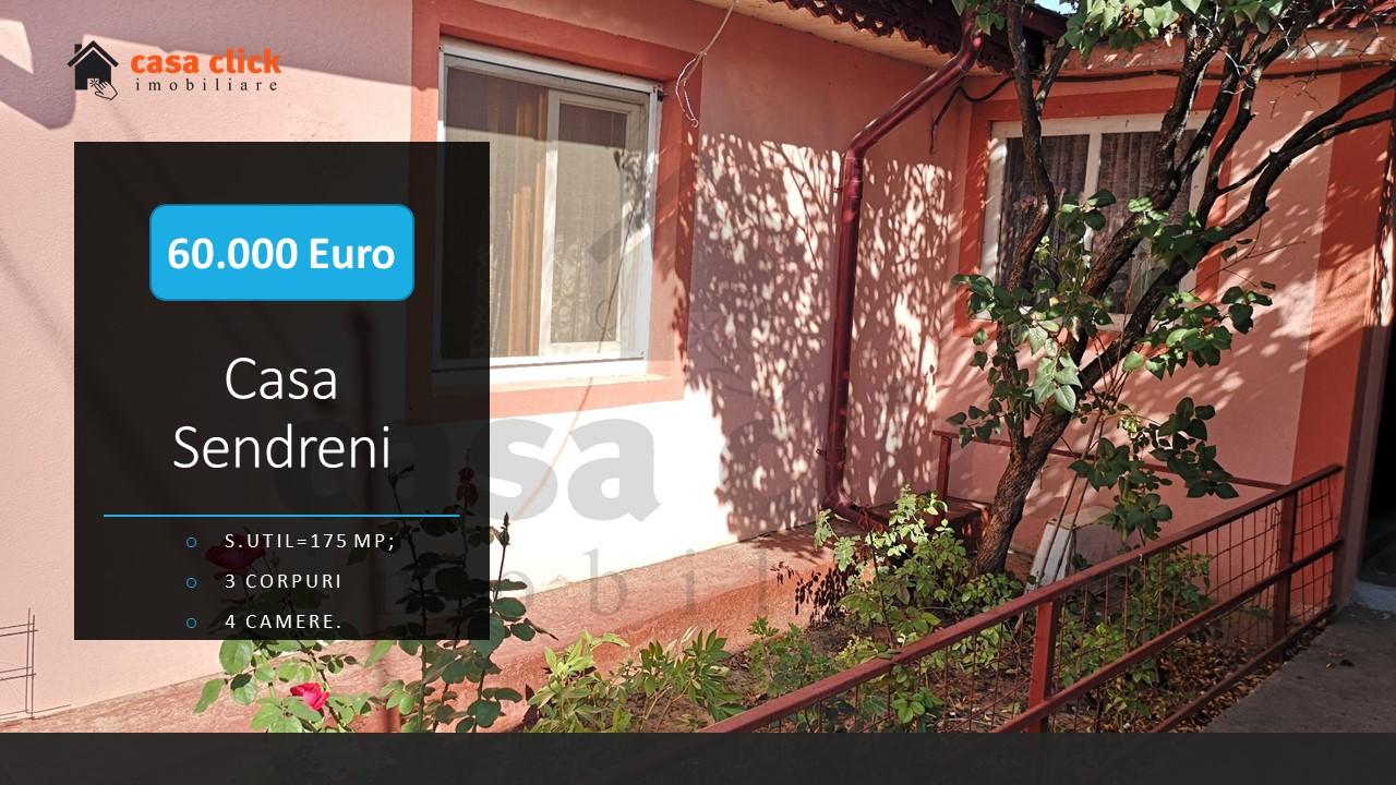 Casa Sendreni, 3 corpuri, zona stradala centrala