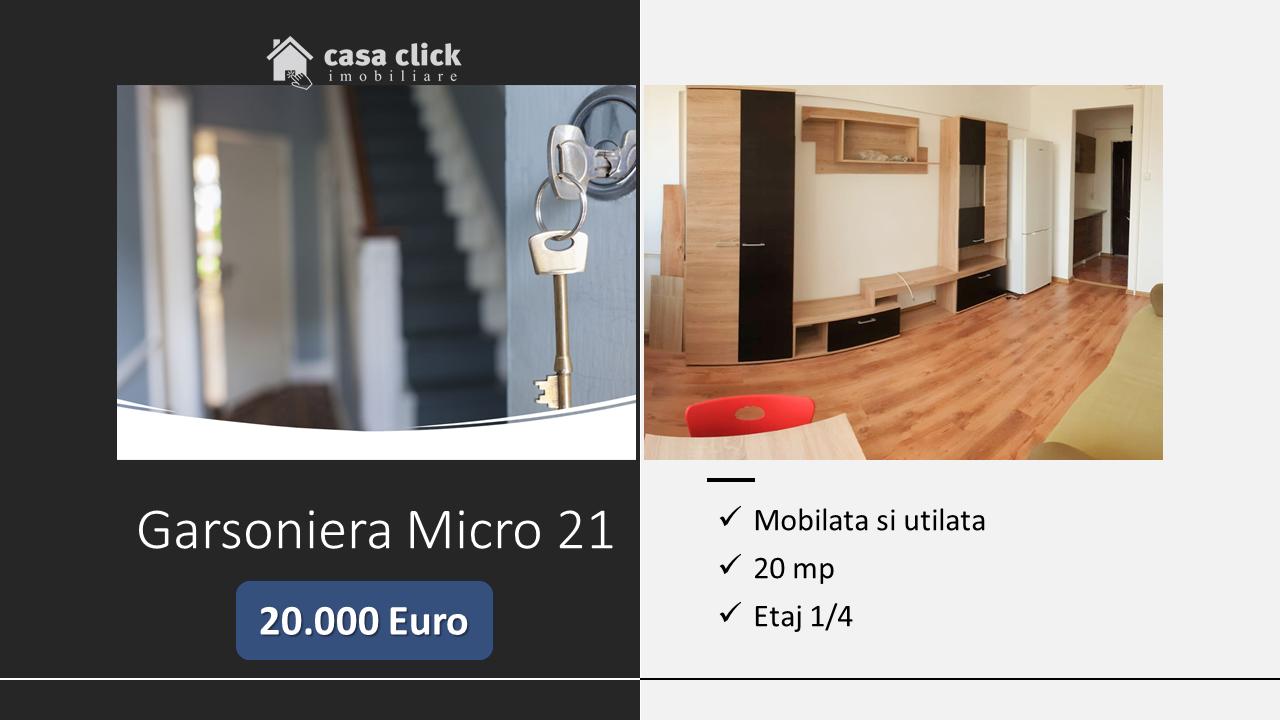 1 camera Micro 21, etaj 1, mobilata si utilata